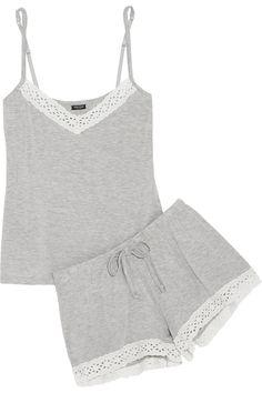 Heidi Klum Intimates - Sur Net à Porter Petite Sleepwear, Cute Sleepwear, Cute Pajamas, Sleepwear Women, Lingerie Sleepwear, Nightwear, Summer Pajamas, Petite Lingerie, Fashion Clothes