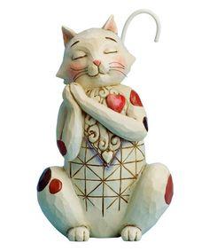 Look what I found on #zulily! Love Cat Figurine #zulilyfinds