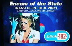 New translucent blue pressing of @blink182  Enema of the State. Mastered for vinyl. Comes in a gatefold jacket and includes 11x11 insert. Pre-order now @srcvinyl releasing June 17th. #blink182vinyl #blink182 #srcvinyl #eots