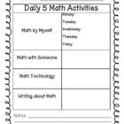 I use this sheet when planning my Daily 5 math time each week! It has been helpful for me to see what I am doing each week at a glance!...