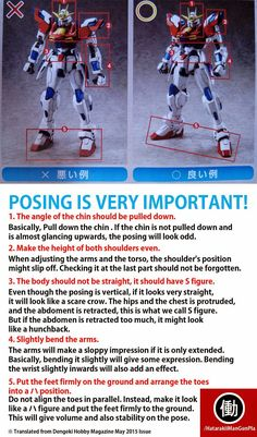 Good Gundam Posing Tutorial Translated by HatarakiManGunPla - Gundam Kits Collection News and Reviews