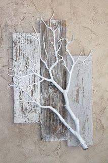 Rustic Twig Wall Art Made From Pallets