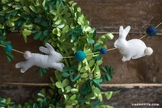 Felt Bunny Garland Easter Craft - Lia Griffith