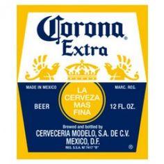 Corona Extra Beer Label Beach Towel.