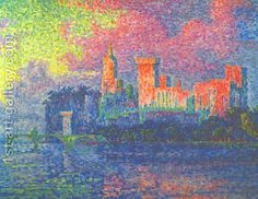 The Papal Palace Avignon by Paul Signac