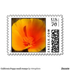 California Poppy small stamps  #card #cards #california #poppies#stamps #flowers #garden