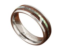 Abalone Tungsten Ring Many people either purchase this as a wedding band (His and Her). Or because they just love it so much. This is a beautiful crafted 6mm w