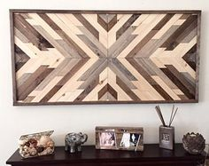 Arte de pared de madera reciclada, arte madera, decoración de la pared, decoración de madera, decoración rústica de madera, casa decoración, decoración Azteca