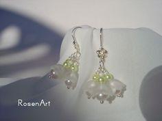 Maiglöckchen Ohrringe von RosenArt auf DaWanda.com