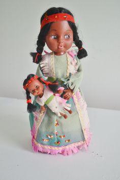 Vintage American Indian Doll by StellaRaeVintageBaby on Etsy, $26.00