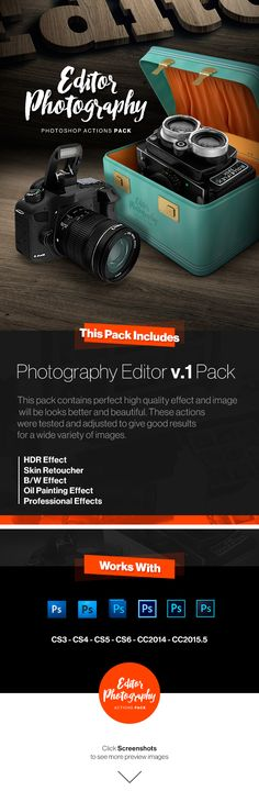 Photography Editor v.1 Actions Pack | Professional Effects For Photographers - Photo Effects Actions