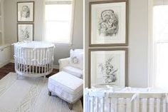 alice in wonderland nursery - I love the large prints.