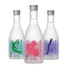 sake ginjo premium. lovely soft bottle for all our #saki loving #packaging peeps PD