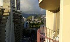 The view from Room 12.02 at Aqua Waikiki Wave in Honolulu.