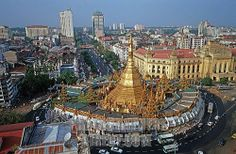 pagodas in yangon | Stock Photography image of Sule pagoda in Yangon , Burma stock photo ...