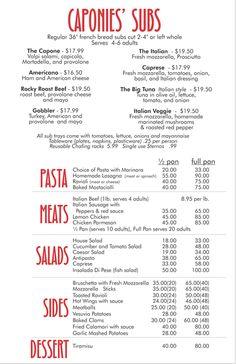 dessert menu   menu ideas   Pinterest   Desserts menu and Menu