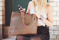 Gusti Leder 'Cecilia' Shopper Handtasche von GustiLederShop auf Etsy