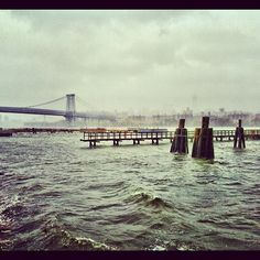 Choppy waters in Williamsburg. #sandy #hurricanesandy