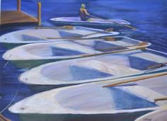 "Saatchi Online Artist Ramona Roush; Painting, ""Row Your Boat"" #art"