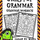"This is a fun little set of Grammar ""Color By"" pages for your students to use when learning to identify nouns, verbs, adjectives, and adverbs. Incl...$"