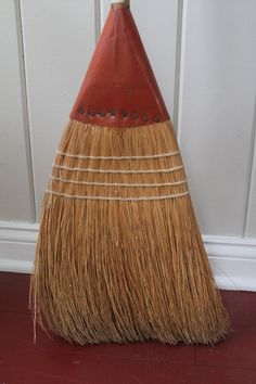 Vintage Straw Railroad Broom // Track and Switch Broom by MyBarn