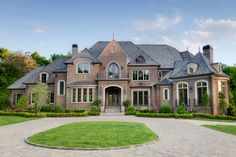 Exterior Ideas Home Galleries: Roof Color Red Brick House Pictures Bricking a House for Contemporary Home Design Diy. Dream Home Design, My Dream Home, House Design, Dream Homes, Facade Design, Custom Home Builders, Custom Homes, Billion Dollar Homes, Win A House