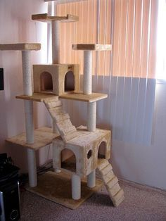 37 Adorable Cattowe Cats Cat Pet Cute Cat Towers Cat Tower Plans Cat Tower