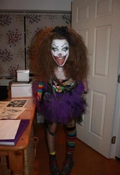 A Scary Clown Costume For Women.
