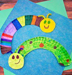 Paper Plate Caterpillars - In The Playroom