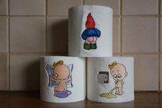 Borduren op WC papier (Embroidery on toilet paper)