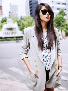 Denni Elias of Chic Muse wears pieces borrowed from the boys // #StreetStyle