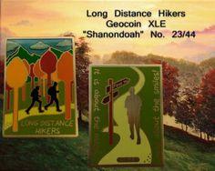 "Long Distance Hikers Geocoin XLE ""Shanondoah"" No. 23/44"