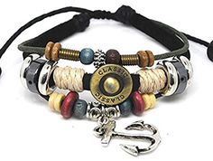 ZMSTORE Fire Sale jewelry fantasy The Glamorous Fashion Metal Anchor Pendant Adjustable Leather Bracelet by ZMSTORE -- Awesome products selected by Anna Churchill