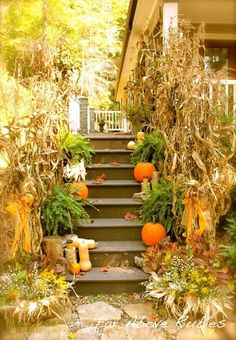 Fall decorating in the country - lots of great outdoor and porch decor ideas