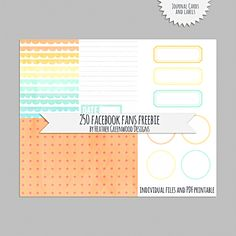 Free Journal Cards and Labels from Heather Greenwood | Scrapbooker + Mixed Media Artist {on Facebook}