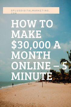 Making $30,000 a month isn't easy but it doesn't have to be painful. In this brand new 5-minute daily series that we're calling 5-Minute Marketing, I'm going to share proven online business models, funnels and strategies to help you start your own online business from your bedroom as fast as possible without prior marketing or sales experience.  In episode 1, I'll share one of the most effective online business strategies of all time