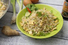 Tojásos sült rizs recept Wok, Fried Rice, Potato Salad, Grains, Potatoes, Chinese, Ethnic Recipes, Friends, Videos