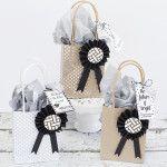 Embellished DIY Graduation Gift Bags