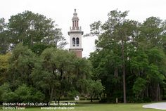 Way down upon the Suwanee River you'll find the Carillon Tower in Stephen Foster Folk Culture Center State Park Suwanee River, Stephen Foster, Rv Campgrounds, White Springs, State Parks, The Fosters, Folk, Florida Usa, Culture