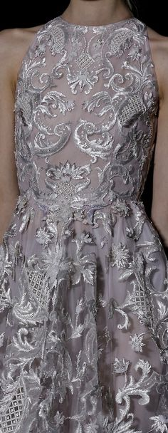 Valentino Spring 2013// I love the shape. And the random patches of quilted beading are lovely.
