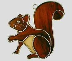 stained glass - squirrel pattern