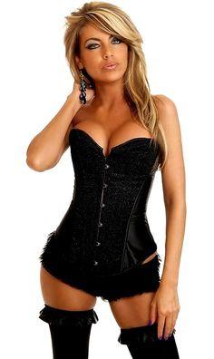b6b4903b2e3 Daisy Corsets Black Glitter Burlesque Corset. Cheap Plus Size LingerieBlack  ...