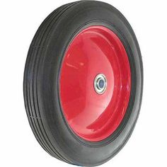 Shepherd 9584 12 inch x 1-3/4 inch Metal Hub Semi Pneumatic Rubber Tire, Multicolor