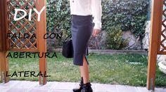 Falda con abertura lateral:Como hacer una Falda.