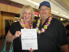 Check out Len's HUGE SMILE! Len thought it was her son, but it turned out it was Rachel, their awesome daughter-in-law! What a great lei greeting surprise! #lethawaiihappen #leigreetings #hawaii #honolulu #orchidlovers #freshflowers #welcometohawaii #surprise