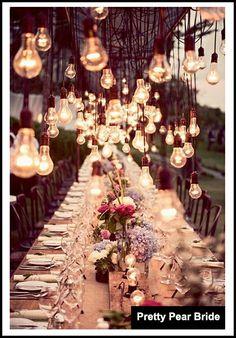 {Things I Love Thursday} Dangling Lightbulb Decor || Pretty Pear Bride