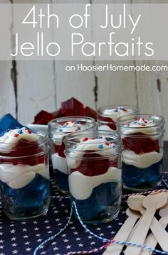 4th of July Treat :: Jello Parfaits
