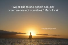 Maui sunset with Mark Twain quote
