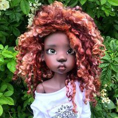 Lana x Kaye Wiggs x Decifashion Clay Dolls, Art Dolls, Dolls Dolls, Big And Beautiful, Beautiful Dolls, Black Freckles, Black Hair Magazine, Big Eyes Artist, Kawaii Doll