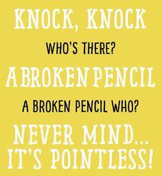 A broken pencil